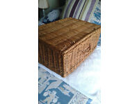 Wicker Picnic Hamper Basket For Holidays or Beach Hut