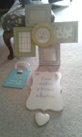 home accesorries clock pic frame stair basket etc