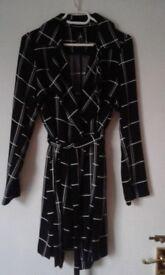 Black & White Mid Length Coat Size 10