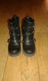 Black studded Boots. Size 3.