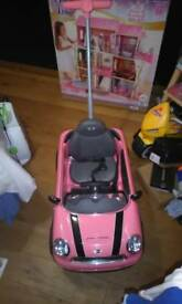 Pink Mini Cooper Childs outdoor toy