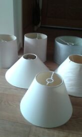 7 Lamp/Light Shades..Various Designs and Sizes..all in good condition..£15 o.n.o