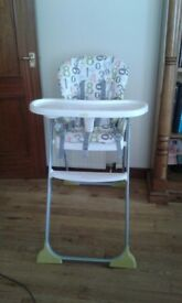 Joie Immaculate baby highchair, rarely used, folds for storage. VGC £30 ONO
