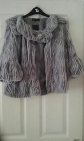Grey fur Boloro BNWT size M/L