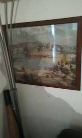 Print of a quayside fishing scene £10 only