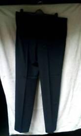 Mens blue trousers 36W 35L(inside leg)