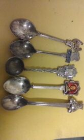 Spoons collectable silver plated