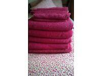 Hot Pink bathroom towel bale
