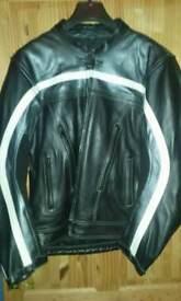 Leather motorbike jacket