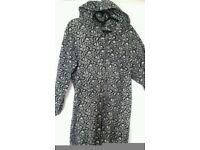 Warm Animal Print Hooded Onesie, M