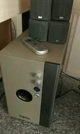 Amplifier & 4 Speakers + remote