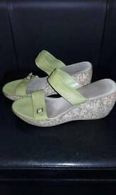 M&S leather size 7 wedges
