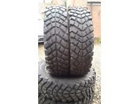 Off road Landrover tyres. Used 205R16 Fedima Extreme set of 4.