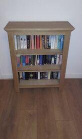 Oak book shelves