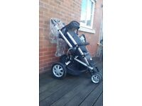 Quinny buzz comes with new born car seat adapters rain cover carry cot and a buggy bored