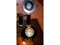 Vintage old fashioned telephone