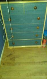 Wardrobe with set drawers