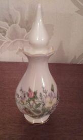Aynsley China Perfume Bottle. Wild Tudor Design.