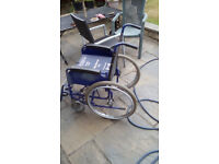 Self propelling wheelchair older type and not lightweight but folds and fits into car boot