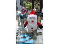 Large quantity of Xmas decs for sale - animal statues, LED trees, lights, window characters etc