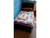Toddler childrens green jigsaw bed & mattress - only £20