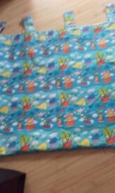 Nursery Curtains. Fully lined. 2 pairs with tie-backs