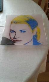 Grace Kelly, art glass