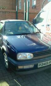 G0lf 1996 convertible drive well no mot