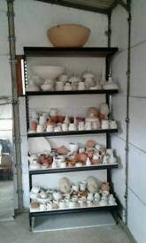 POTTERY. UNGLAZED WORKS IDEAL TEST PIECES FOR STUDENTS 50p--£5 each. NO TEXTS PLEASE
