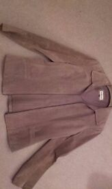 Suede Jacket, as new, size 10 -12