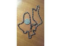 24 Inch Handbag chain for frames or knitted etc bags Gun metel grey