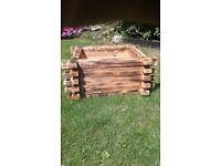 wood box planter