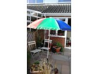Multi- coloured garden umbrella (Without base)