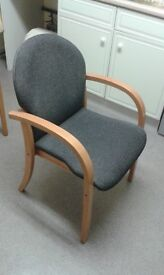 Reception/Visitor wooden frame armchair -- As new