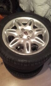 "15"" alloy wheels with tyres"
