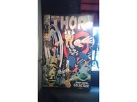 Framed Marvel Thor comic picture