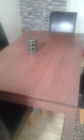 Dining table Plus 4 FREE chairs