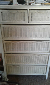 Girly white chest of drawers