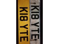 Private Plate K18YTE