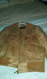Gents tan leather jacket size medium