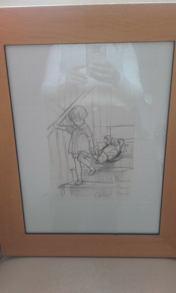 x2 winnie the pooh nursery photos in pine glass frames used for my ...