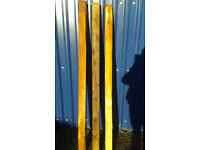 FENCE POSTS. 6 FOOT 6 INCH LONG. 4X4 INCH THICK.