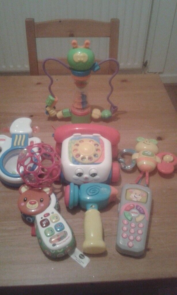 Selection of baby toys like new