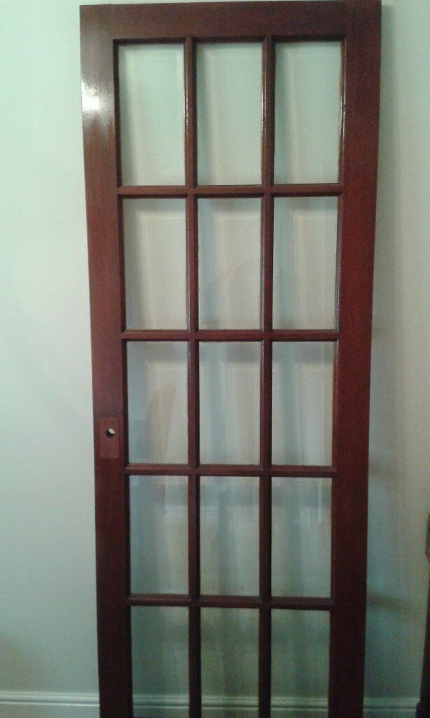 Internal Solid Wood 15 Panel Glass Panel Door 2030 X 723mm In