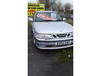 REDUCED a cheap Christmas run about car. saab diesel 93 hatchback 7 service stamps 2002 test april