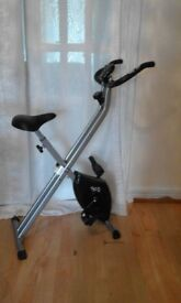 exercise bike, folds away