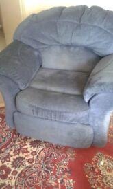 Dark Blue Reclining Armchair - Free