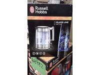 "BRAND NEW !!! Electric KETTLE "" Russell Hobbs "" 1.7L GLASS LINE"