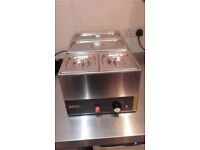 Buffalo Bain Marie L371 B with pans and dividers