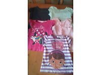 4-5 year girls short sleeved tops